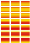 Catalonia Flag Stickers - 21 per sheet